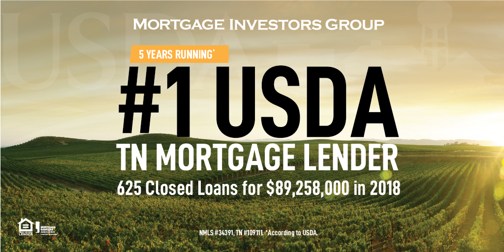 MIG named #1 TN USDA lender for the 5th consecutive year