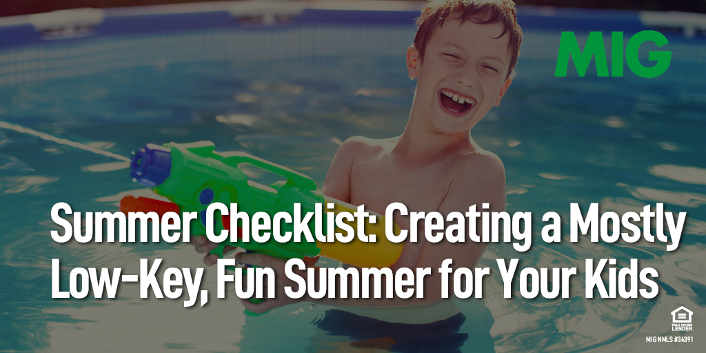 Summer Checklist: Creating a Mostly Low-Key, Fun Summer for Your Kids