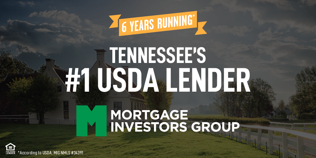 MIG named #1 TN USDA lender for the 6th consecutive year