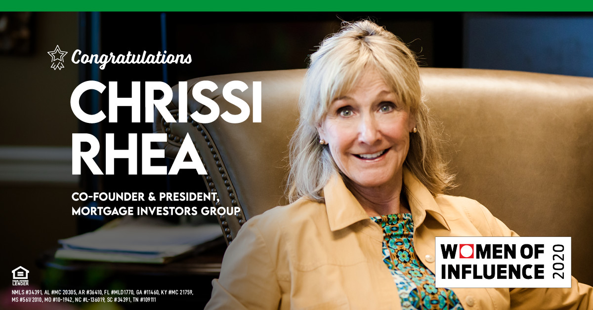 CHRISSI RHEA NAMED 2020 WOMAN OF INFLUENCE