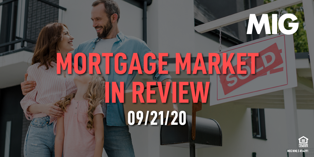 MIG Market Watch, September 21st, 2020
