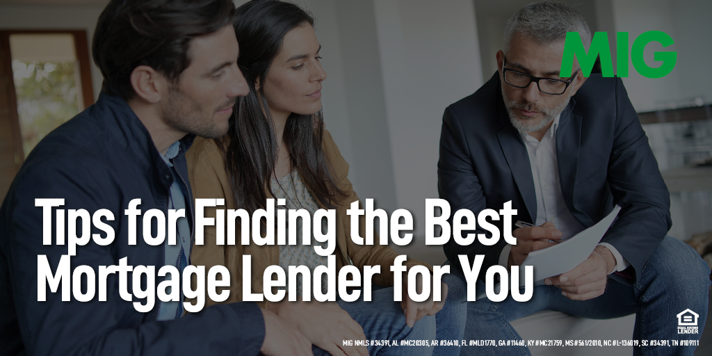 Tips for Finding the Best Mortgage Lender for You