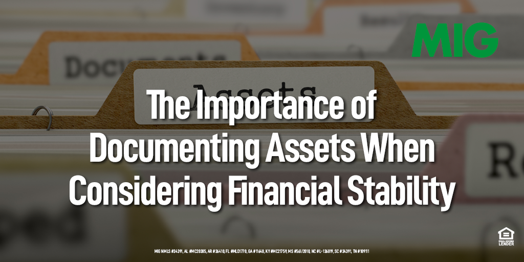 The Importance of Documenting Assets When Considering Financial Stability