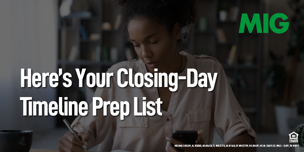 Here's Your Closing-Day Timeline Prep List
